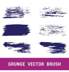 Set of grunge brushes Hand drawn vector