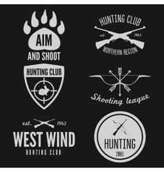 Set of logo emblem label or logotype elements vector image