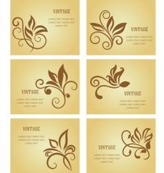 set of vintage cards vector image