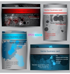 set paper business card templates vector image