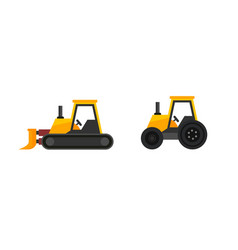 set tractors icon isolated on white vector image