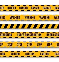 Set yellow warning tapes vector