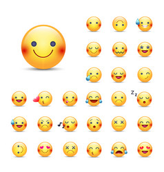 smileys icon set emoticons pack happy vector image