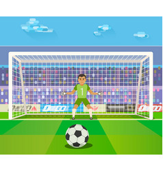 Soccer goalkeeper a vector