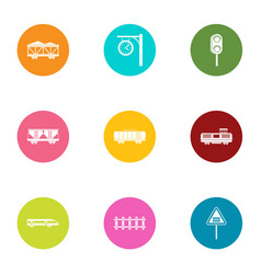 Span icons set flat style vector