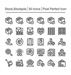 Stockpile icon vector
