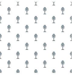 studio microphone pattern seamless vector image
