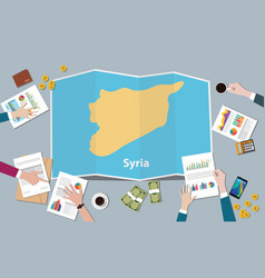 syria country growth nation team discuss with vector image