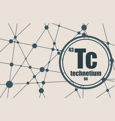 technecium chemical element vector image
