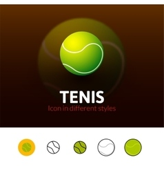 Tennis icon in different style vector image