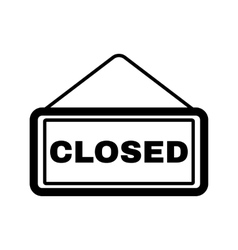 The closed icon Locked symbol Flat vector image