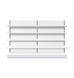 trade shop shelf rack isolated realistic stand vector image