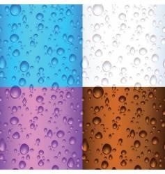 Water drop backgrounds vector