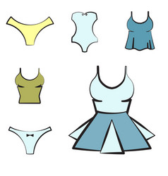 women underwear or lingerie icon vector image