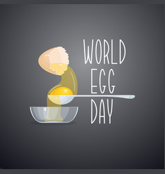 world egg day card isolated vector image