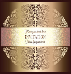 Abstract background luxury beige and gold vintage vector