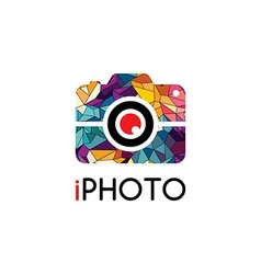 Abstract colorful triangle geometrical photography vector image