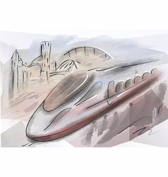 bullet train vector image vector image