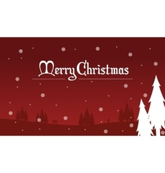 Christmas landscape spruce of silhouettes vector image vector image
