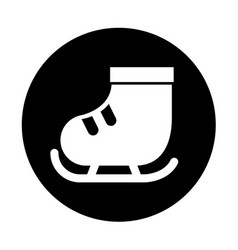 cute round icon ice skate vector image vector image