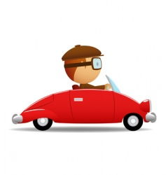 driver in the red car vector image vector image