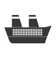 gray ship travel maritime vector image