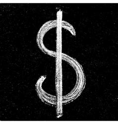 Hand-drawn dollar sign vector