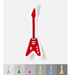 realistic design element electric guitar vector image vector image