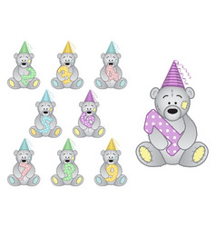 set of numbers to the childs birthday from 1 to 9 vector image