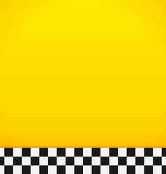 Taxi Checkerboard Pattern vector image vector image