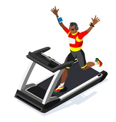 Treadmill Fitness Class Working Out Isometric vector image vector image
