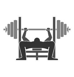 Bench Press Icon vector image