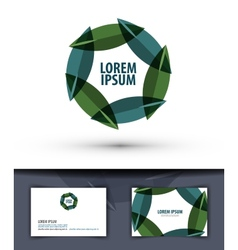 foliage in a circle Logo icon emblem template vector image vector image