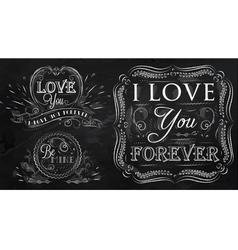 Love forever chalk vector