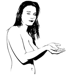 Naked Girl vector image vector image