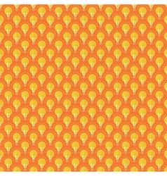 Seamless pattern bulb flat design vector