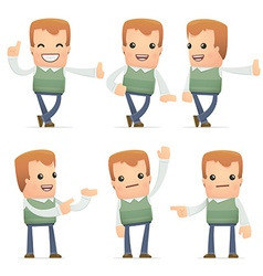 set of neighbor character in different poses vector image vector image