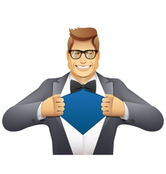 businessman superman vector image vector image