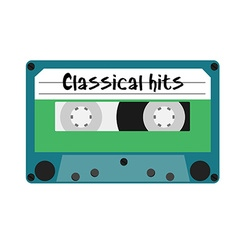 Cassette classical hits vector image vector image