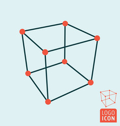 Cube icon isolated vector