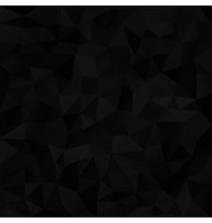 Geometric black background vector image vector image