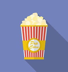 Icon of Popcorn Flat style vector image vector image