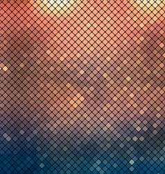 Metallic mosaic background vector image vector image