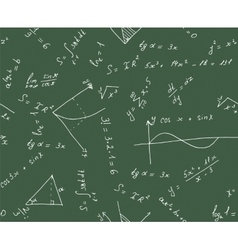 Seamless math background vector image