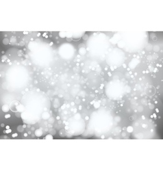 silver bokeh background abstract defocused bright vector image vector image