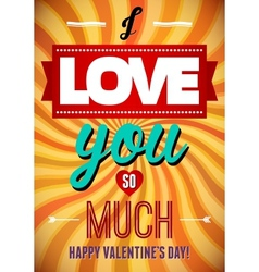 Valentines Day type text calligraphic Valentines vector image vector image