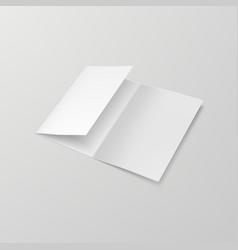 3d a4 three fold blank brochure template vector