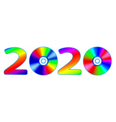 Abstract 2020 number vector