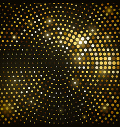 abstract black background with golden glitter vector image