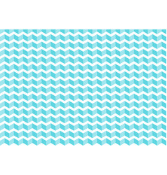 abstract blue chevron tiles pattern on white vector image